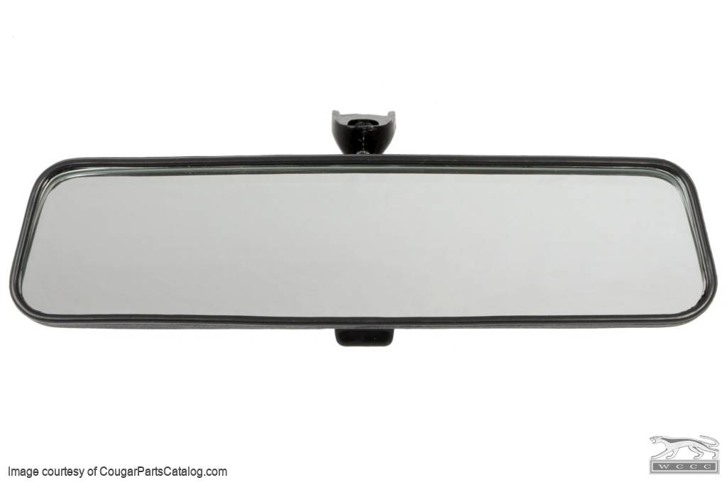 Rear View Mirror Assembly - Interior - Repro ~ 1970 - 1973 Mercury Cougar / 1970 - 1973 Ford Mustang - 11392