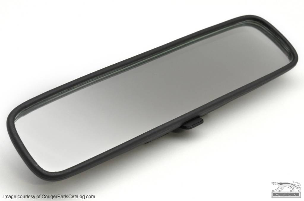 Rear View Mirror Assembly - Interior - FLIP STYLE - Repro ~ 1968 - 1969 Mercury Cougar / 1968 - 1969 Ford Mustang - 11618