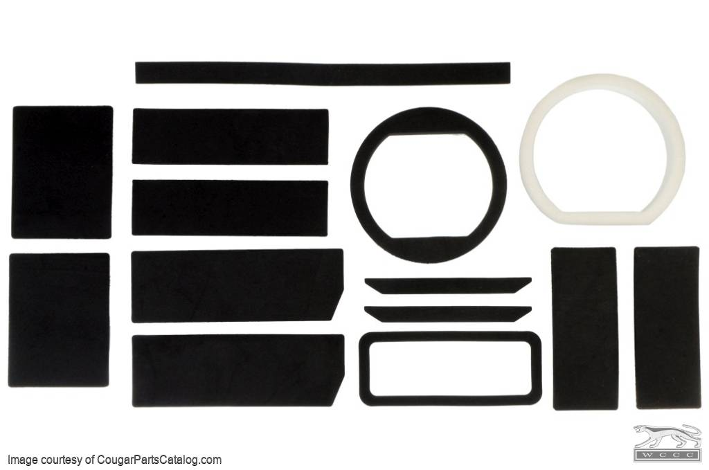 Seals And Foam Kit - w/ A/C - Repro ~ 1967 - 1968 Mercury Cougar / 1967 - 1968 Ford Mustang - 25972