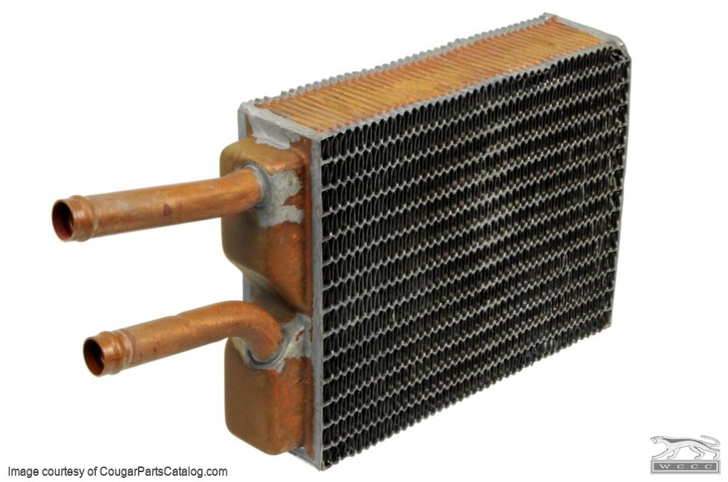 Heater Core - Brass - w/ A/C - Repro ~ 1967 - 1973 Mercury Cougar / 1967 - 1973 Ford Mustang - 25984