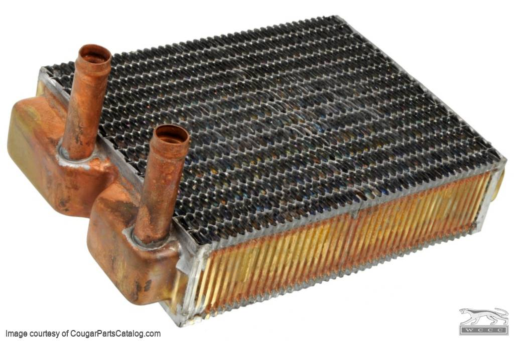 Heater Core - Brass - w/o A/C - Repro ~ 1967 - 1968 Mercury Cougar - 1967 - 1968 Ford Mustang - 25987