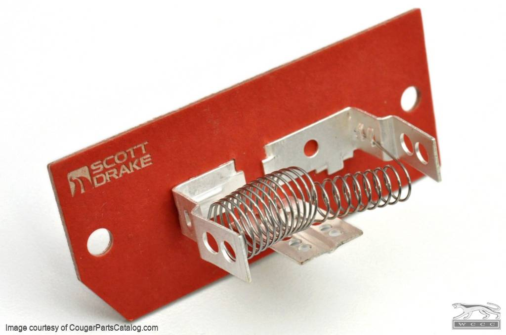 Resistor - Heater Switch to Blower Motor - w/ A/C - Repro ~ 1969 - 1973 Mercury Cougar / 1969 - 1973 Ford Mustang - 10524