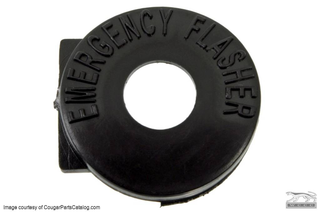 Bezel - Emergency Flasher Switch - Fixed Column - Repro ~ 1967 - 1969 Mercury Cougar / 1967 - 1969 Ford Mustang - 11057