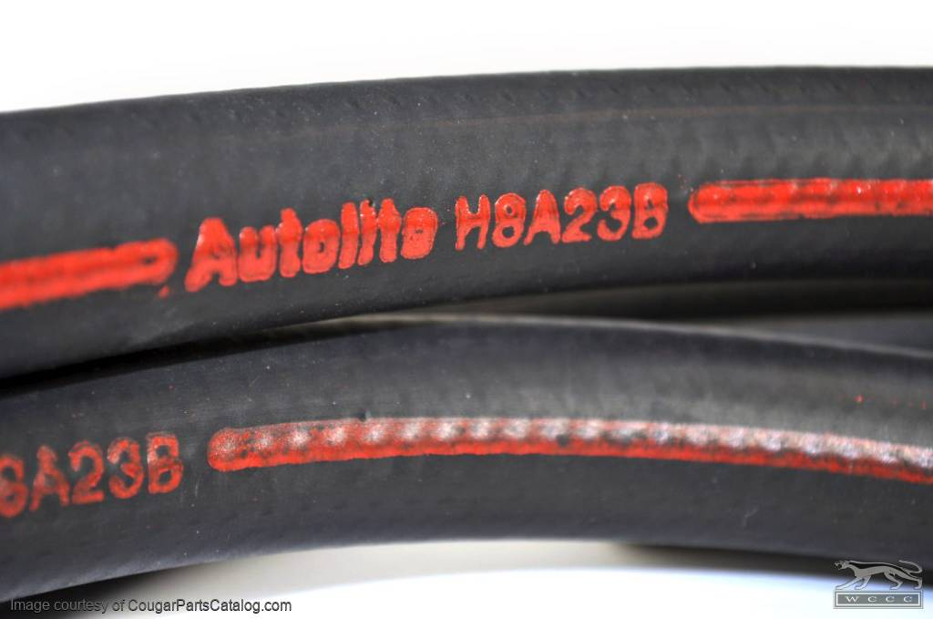 Heater Hose - Concours Correct - w/o A/C - Repro ~ 1968 Mercury Cougar / 1968 Ford Mustang - 26156
