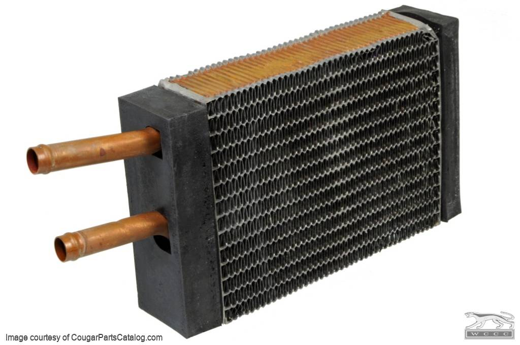 Heater Core - End Caps / Seals - w/ A/C - Repro ~ 1967 - 1973 Mercury Cougar / 1967 - 1973 Ford Mustang - 26560