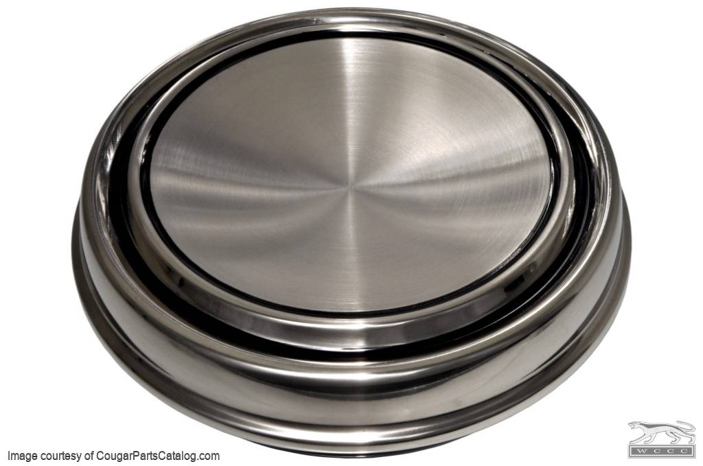 Hubcap / Wheel Cover - Dog Dish Style - Eliminator - Repro ~ 1969 - 1973 Mercury Cougar / Cyclone / 1969 - 1973 Ford Mustang / Torino - 26745