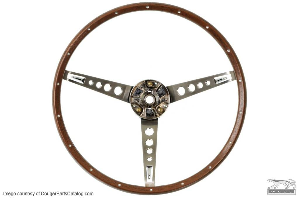 Steering Wheel - Deluxe - Repro ~ 1967 Mercury Cougar / 1967 Ford Mustang - 26756