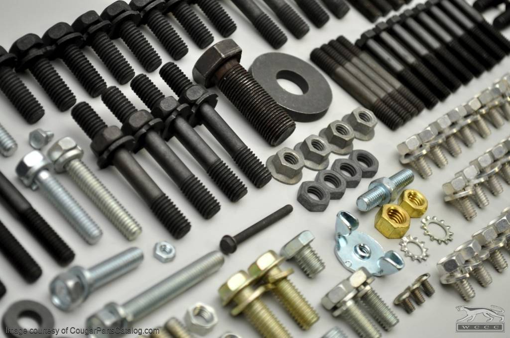 Master Engine Fastener Kit - 289 / 302 without A/C - Repro ~ 1968 Mercury Cougar - 1968 Ford Mustang - 41152