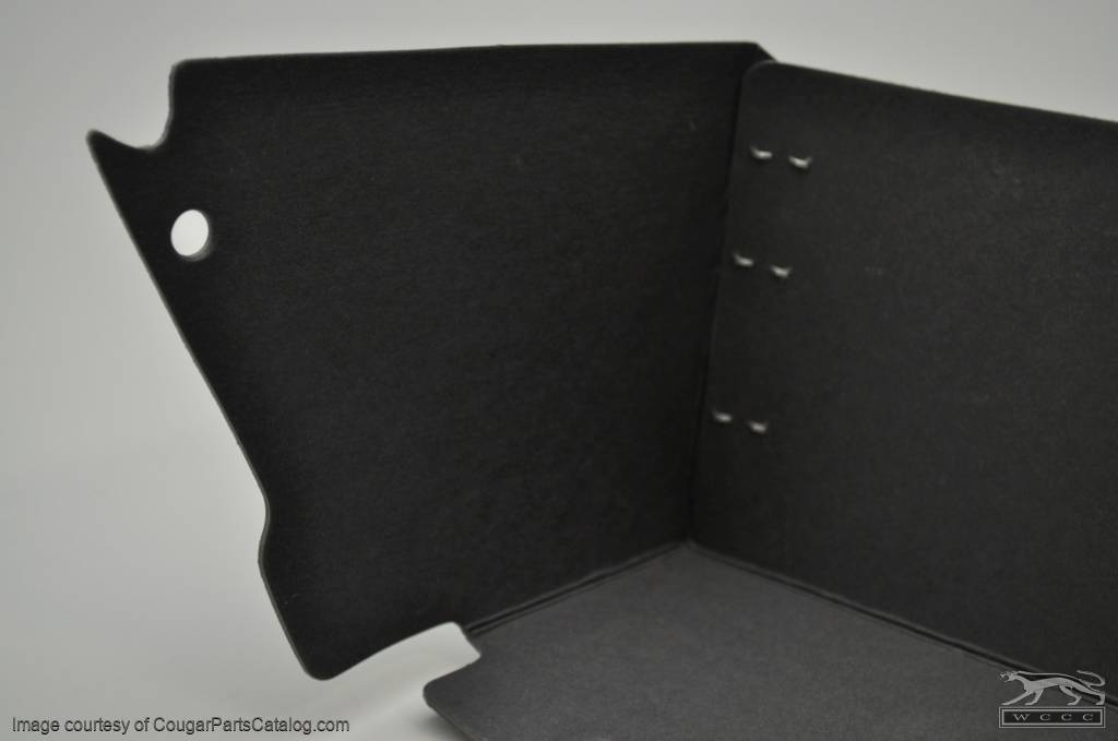 Glove Box Liner - w/ A/C - Repro ~ 1971 - 1973 Mercury Cougar / 1971 - 1973 Ford Mustang - 41548