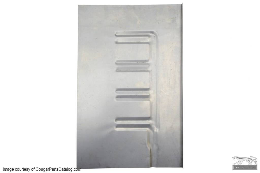 Patch Panel - Floor Pan - Coupe - Passenger Side - Repro ~ 1969 - 1970 Mercury Cougar / 1969 - 1970 Ford Mustang - 41628