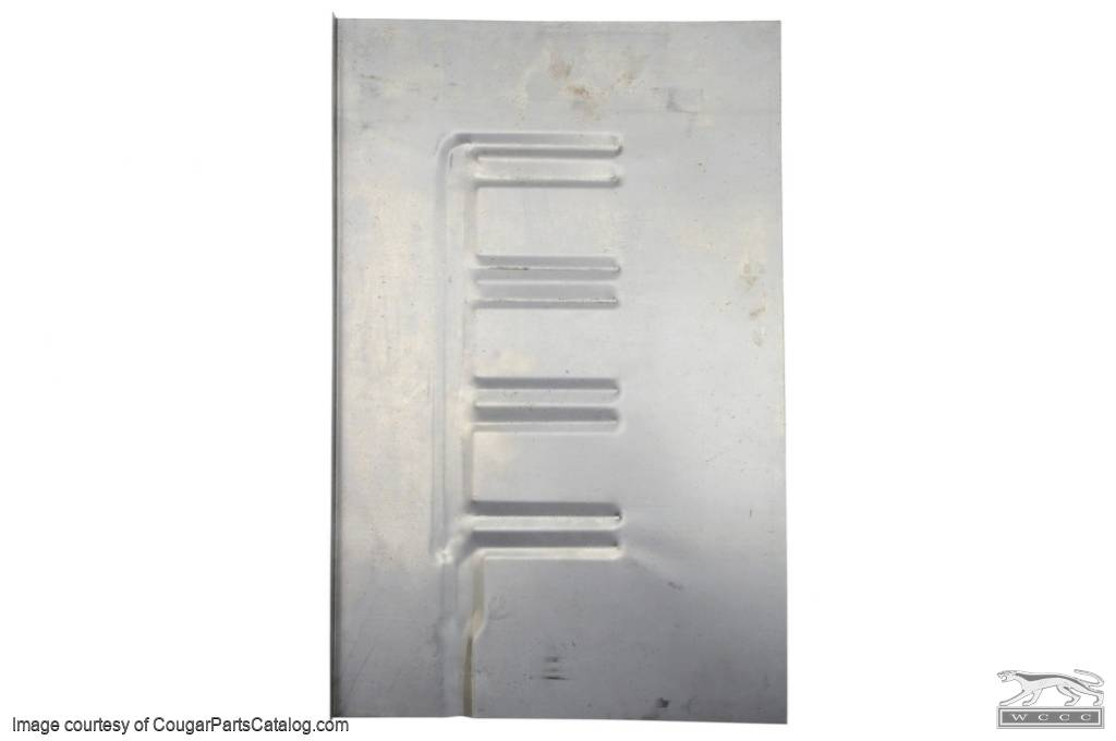 Patch Panel - Floor Pan - Coupe - Driver Side - Repro ~ 1969 - 1970 Mercury Cougar / 1969 - 1970 Ford Mustang - 41630