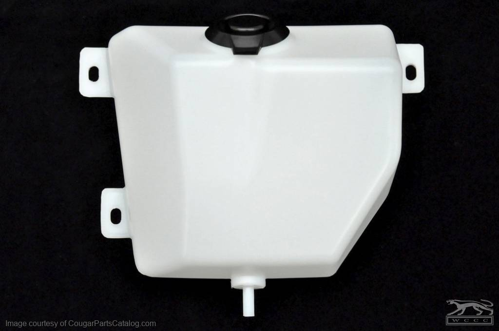 Windshield Washer - Reservoir - ECONOMY - Repro ~ 1967 - 1968 Mercury Cougar / 1967 - 1968 Ford Mustang - 41688