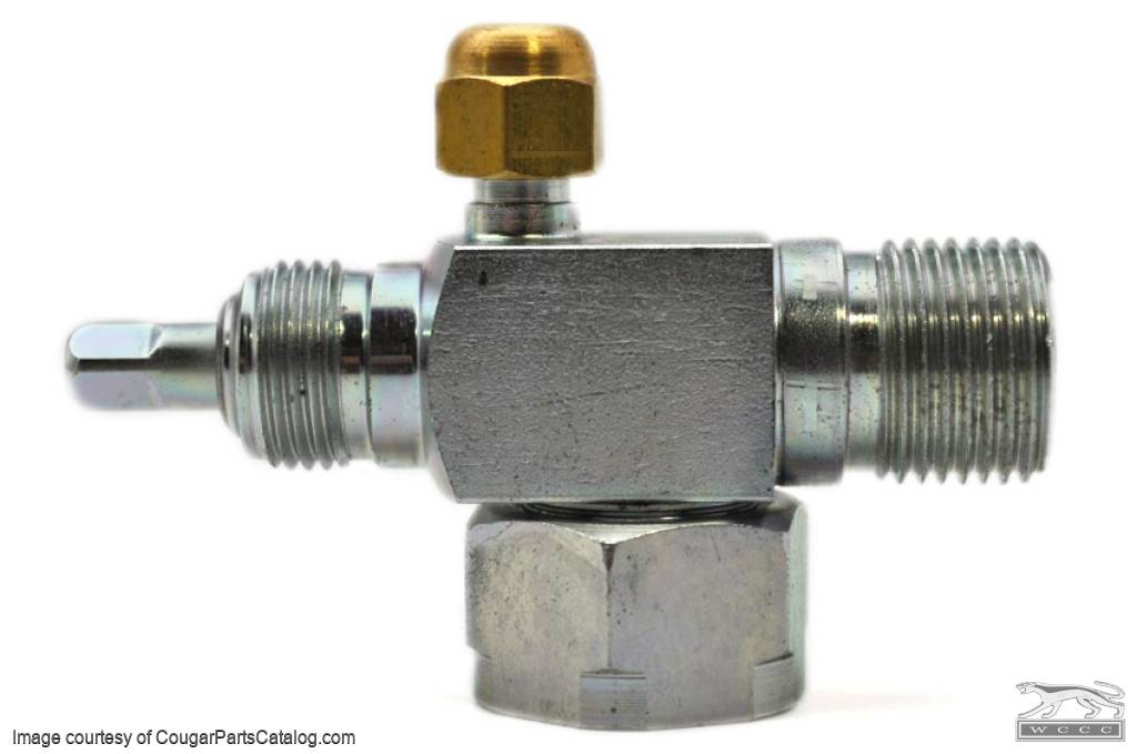 A/C Suction Service Valve - Repro ~ 1970 - 1973 Mercury Cougar / 1970 - 1973 Ford Mustang