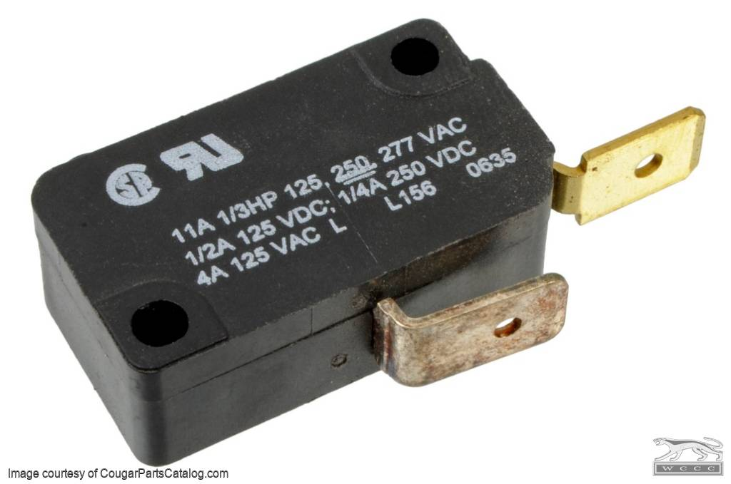 Micro / Mode Switch - A/C - Repro ~ 1969 - 1973 Mercury Cougar - 1969 - 1973 Ford Mustang - 42501