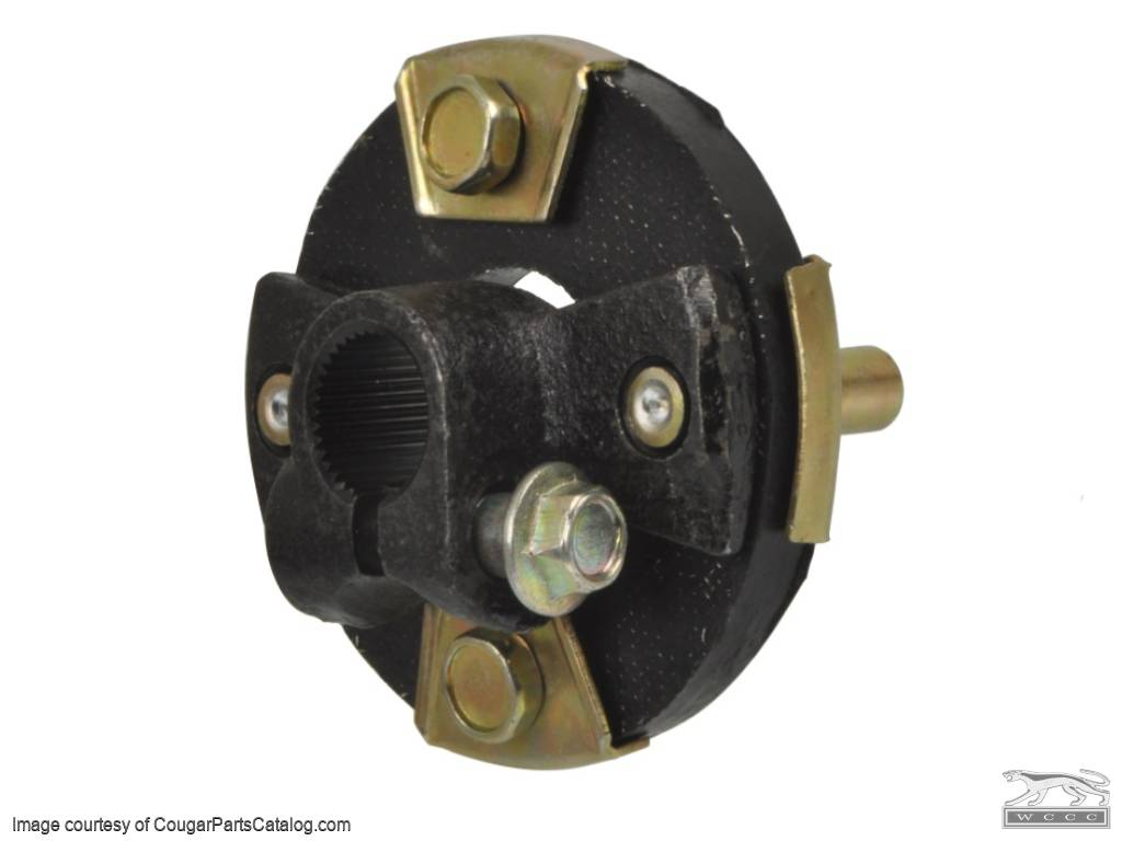 Rag Joint / Coupler - Fixed Column - Repro ~ 1967 - 1970 Mercury Cougar / 1967 - 1970 Ford Mustang - 10121