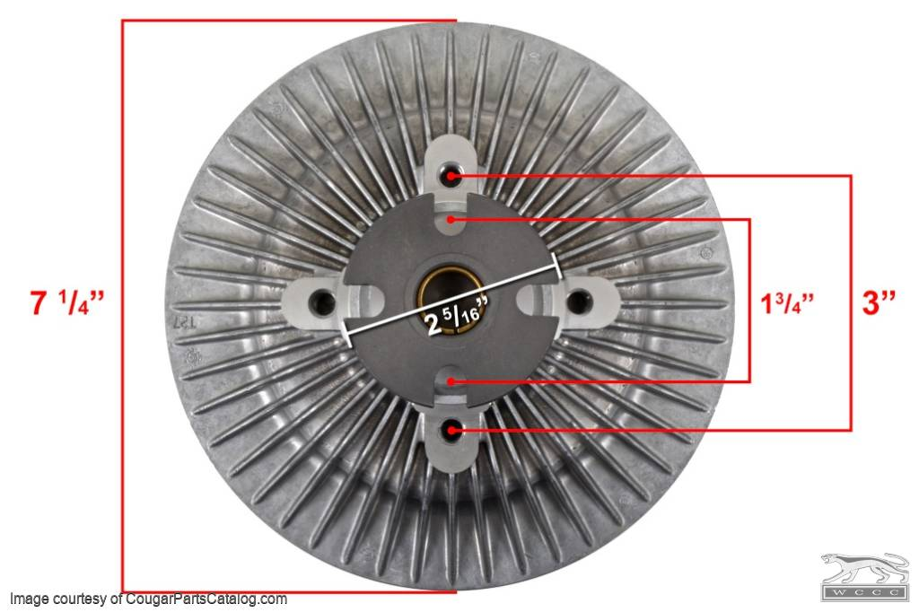 Clutch - Radiator Fan - Thermal - 289 / 302 / 351W / 390 / 427 / 428 - Economy - Repro ~ 1967 - 1969 Mercury Cougar / 1967 - 1969 Ford Mustang - 10304