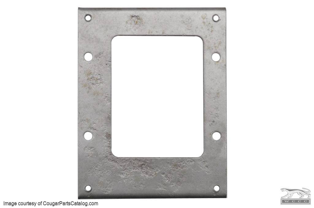 Adapter Plate - Shifter Cover - Used ~ 1967 - 1968 Mercury Cougar / 1967 - 1968 Ford Mustang - 10345