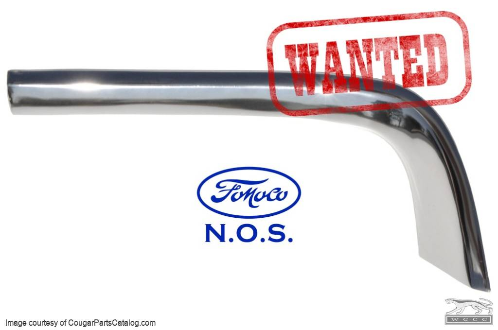 Moulding / Trim - Eyebrow / Fender Extension - Driver Side - NOS ~ 1969 Mercury Cougar - 10356