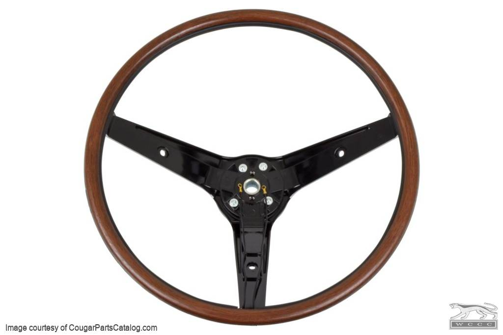 Steering Wheel - Rim Blow - With Switch -  Repro ~ 1969 Mercury Cougar - 1969 Ford Mustang - 10521