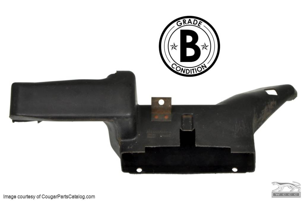 Duct - Heater Outlet to Floor - with A/C - Grade B - Used ~ 1969 - 1970 Mercury Cougar / 1969 - 1970 Ford Mustang - 11-0107