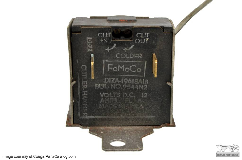 Switch - A/C Thermostat Control - Used ~ 1971 - 1973 Mercury Cougar / 1971 - 1973 Ford Mustang - 11-0110
