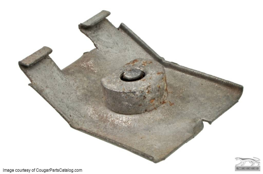 Window Stop - Front Window Stop Bracket - Used ~ 1967 - 1968 Mercury Cougar / 1967 - 1968 Ford Mustang - 11-0205