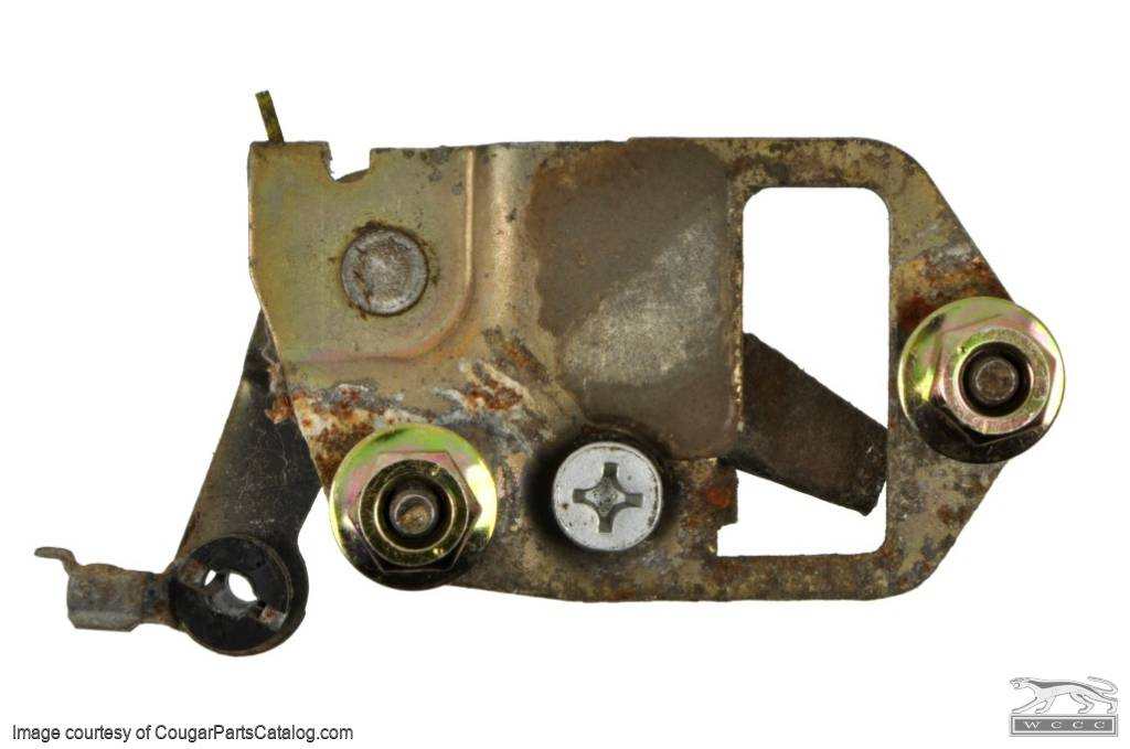 Inside Door Release Assembly - Driver Side - Used ~ 1969 - 1970 Mercury Cougar  / 1969 - 1970 Ford Mustang - 11-0302