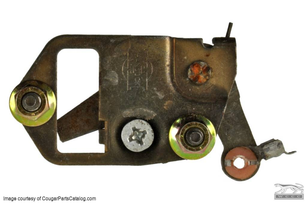 Inside Door Release Assembly - Passenger Side - Used ~ 1969 - 1970 Mercury Cougar  / 1969 - 1970 Ford Mustang - 11-0303