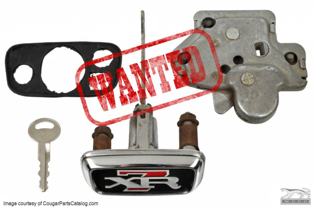 Lock Assembly Kit - Rear Deck / Trunk Lid - Complete Kit - Used ~ 1967 - 1968 Mercury Cougar - 11-0359