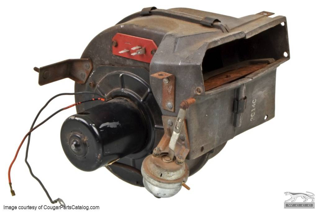A/C Blower Housing Assembly - Used ~ 1971 - 1973 Mercury Cougar / 1971 - 1973 Ford Mustang - 11-0387