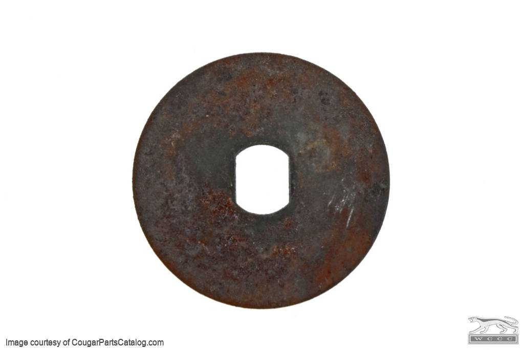 Washer  - Metal - Quarter Window Roller - Used ~ 1971 - 1973 Mercury Cougar / 1971 - 1973 Ford Mustang - 11-0404