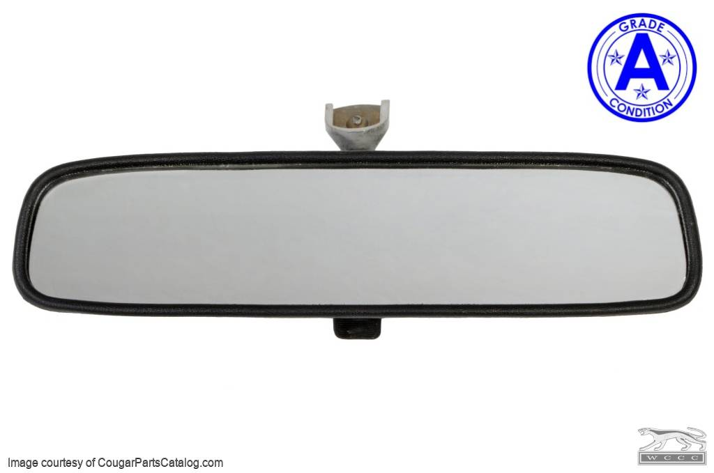 Rear View Mirror Assembly - Interior - Grade A - Used ~ 1970 - 1973 Mercury Cougar / 1970 - 1973 Ford Mustang - 11046