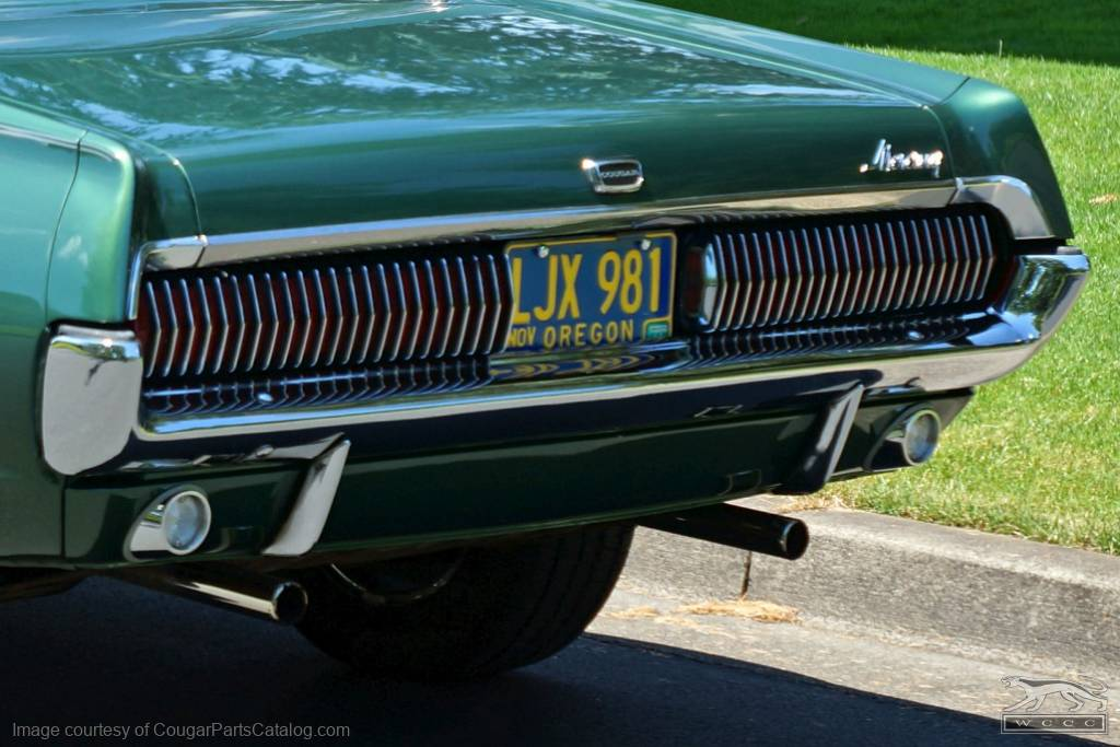 Bumper Guards - Rear - PAIR - PRE-PAY CORE CHARGE - Restored ~ 1967 - 1968 Mercury Cougar - 11493