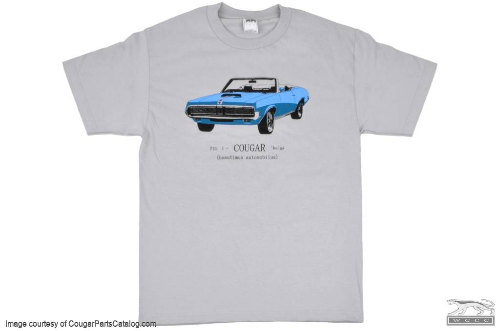 T-Shirt - 1969 Convertible - Men's XL - New ~ 1969 Mercury Cougar - 12-0028