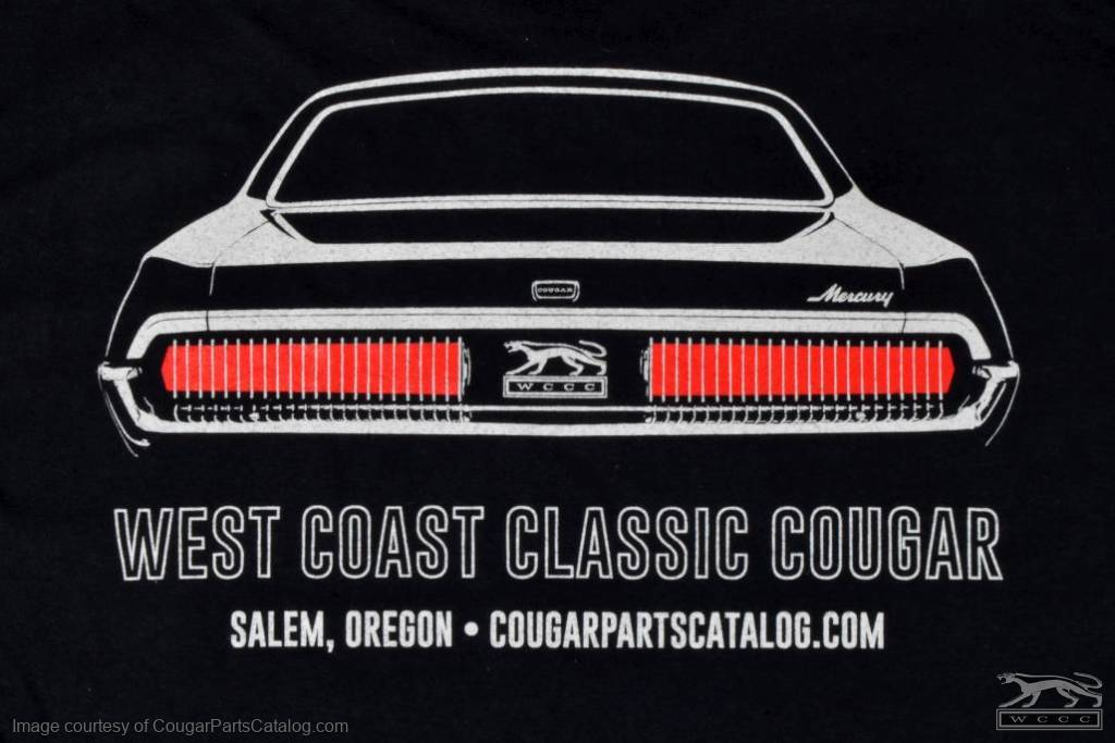 T-Shirt - WCCC Black Edition - Men's LARGE - New ~ 1967 - 1968 Mercury Cougar  - 12-0064