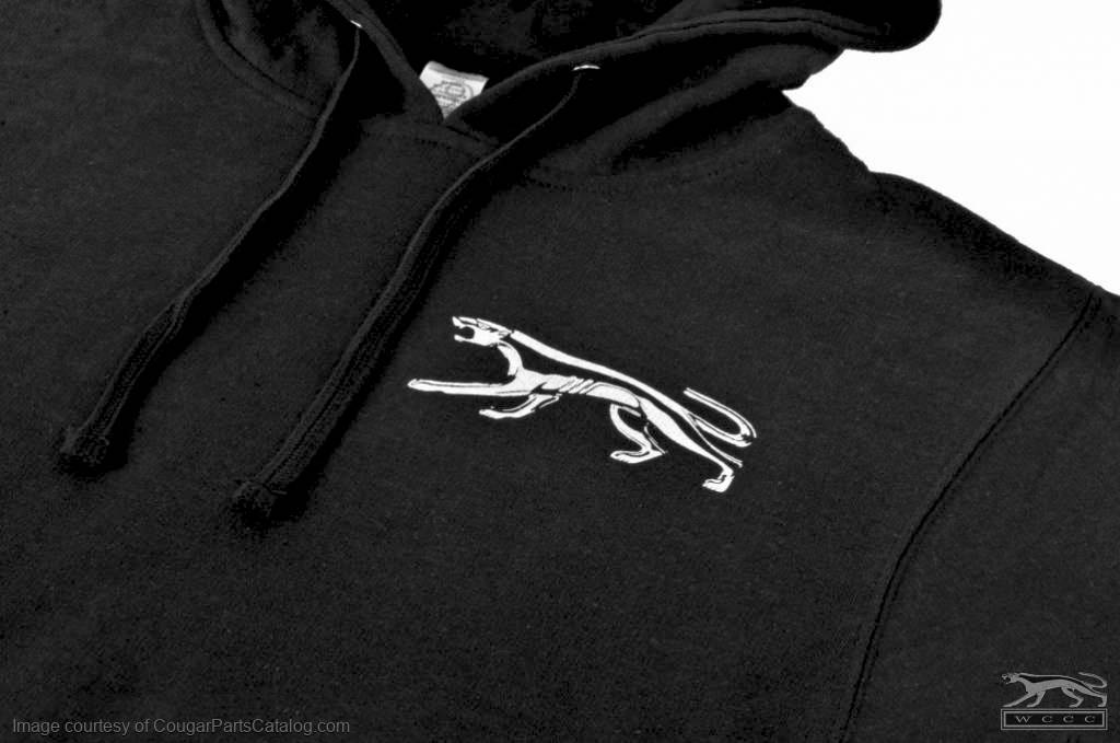 Sweatshirt - Black Hooded Pullover - WCCC - New ~ 1967 - 1973 Mercury Cougar - Black_Hooded_Pullover