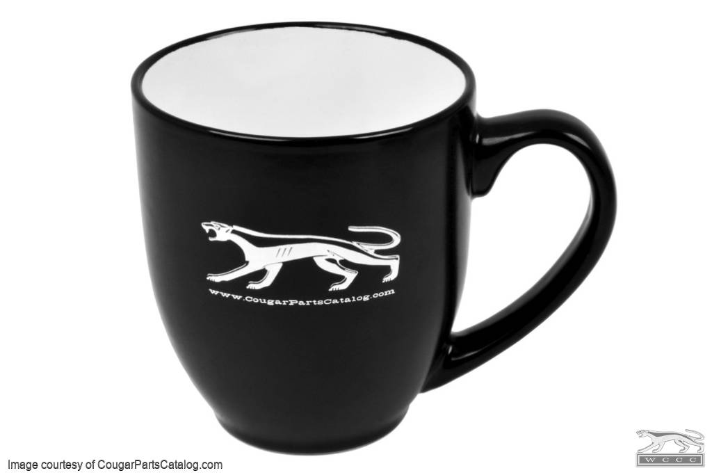 Coffee Mug - Walking Cat - BLACK / WHITE - New ~ 1967 - 1973 Mercury Cougar - 12-0095