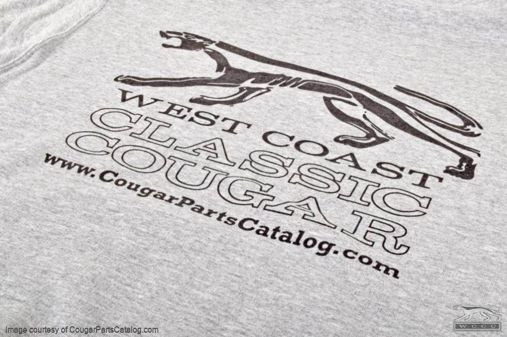 Sweatshirt - Gray Hooded Pullover - WCCC - Men's SMALL - New ~ 1967 - 1973 Mercury Cougar - 12-0102