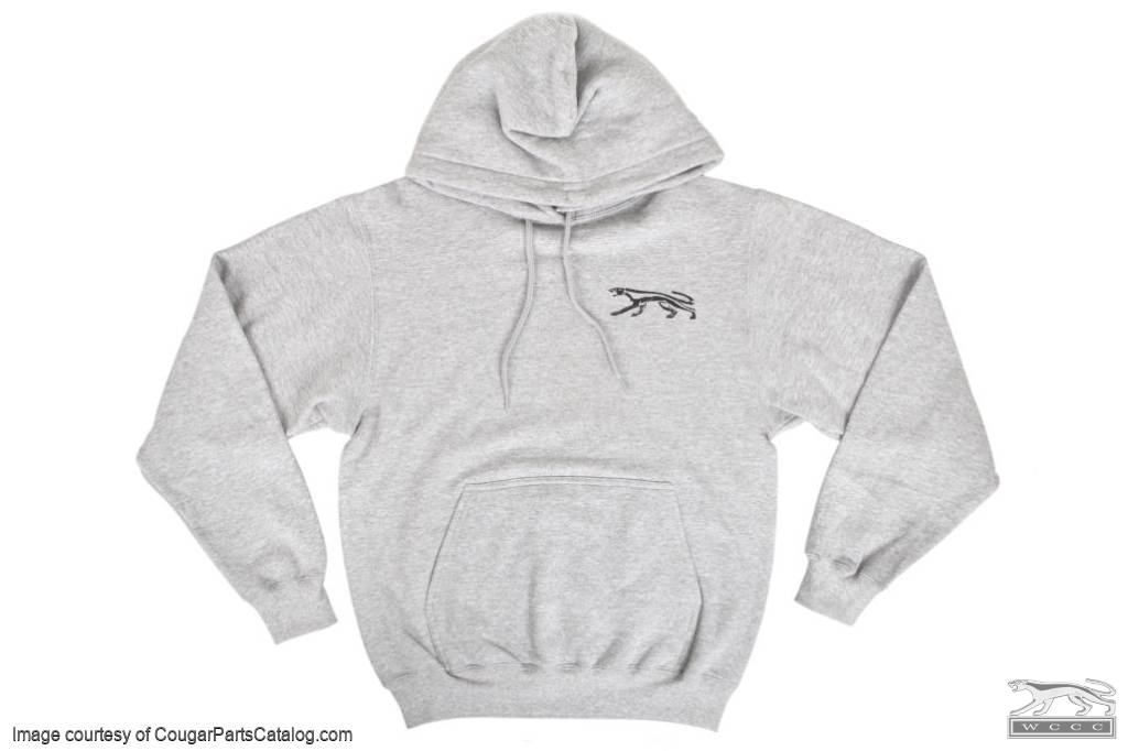 Sweatshirt - Gray Hooded Pullover - WCCC  - New ~ 1967 - 1973 Mercury Cougar - Gray_Hooded_Pullover