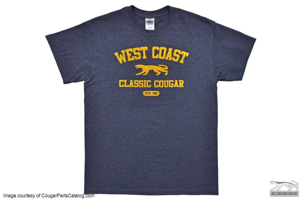 T-Shirt - WCCC Athletic Style - LARGE - New ~ 1967 - 1973 Mercury Cougar  - 12-1013