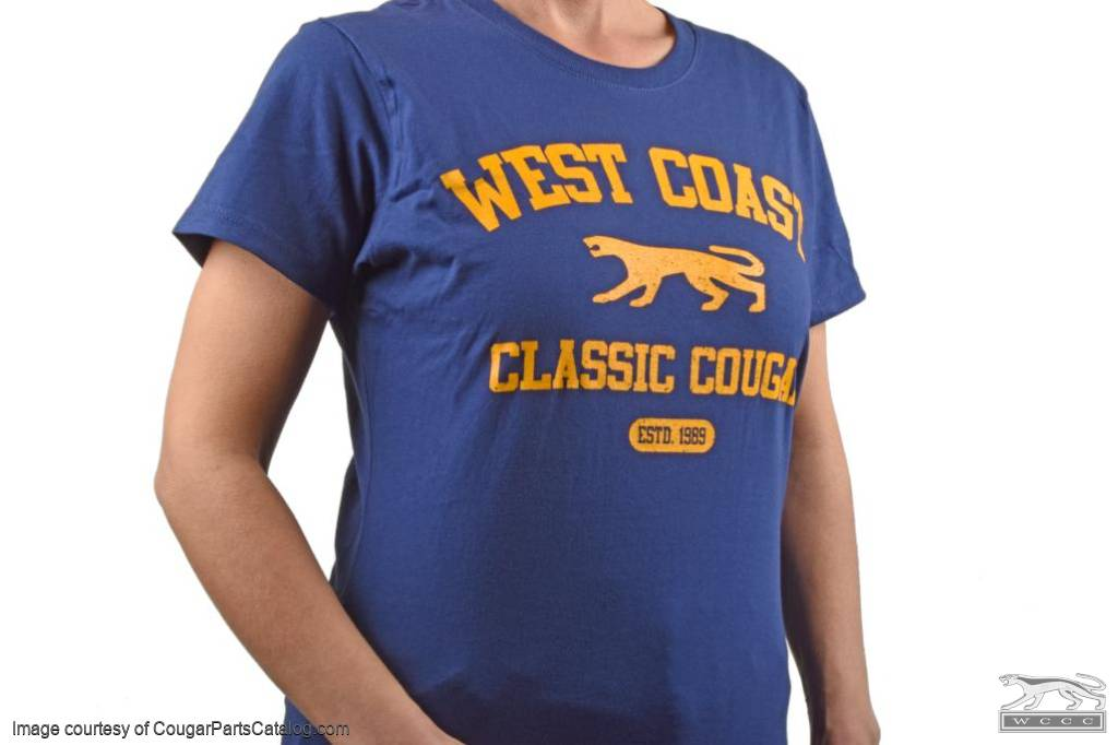 T-Shirt - WCCC Athletic Style - LADIES LARGE - New ~ 1967 - 1973 Mercury Cougar  - 12-1023