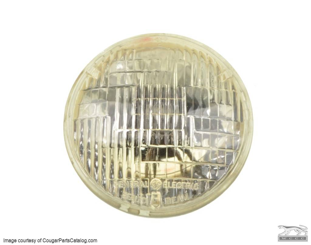 Headlight - Low Beam - 4000 / 4002 - Used ~ 1967 - 1973 Mercury Cougar / 1967 - 1973 Ford Mustang  - 25864