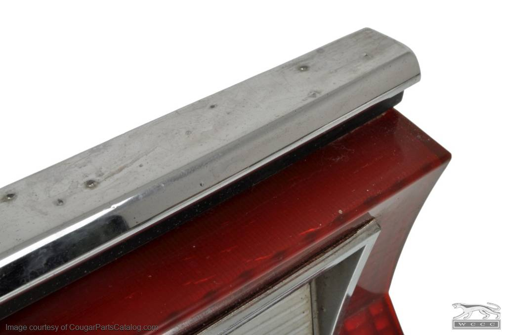 Fuel Door - Complete Assembly - Used ~ 1969 - 1970 Mercury Cougar - 12145