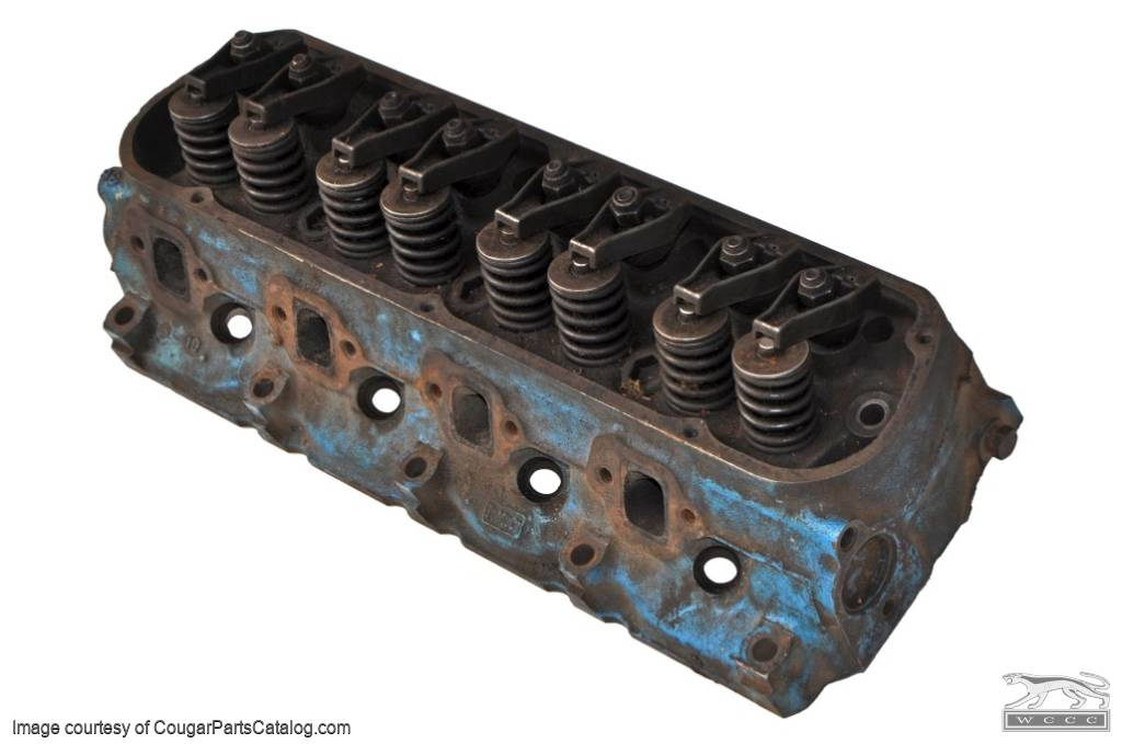 Cylinder Head 289 - No Smog - Used ~ 1967 Mercury Cougar / 1966 - 1967 Ford Mustang - 12323