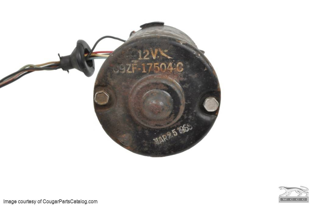 Windshield Wiper Motor - 2 Speed - Used ~ 1969 - 1970 Mercury Cougar / 1969 - 1970 Ford Mustang - 12352