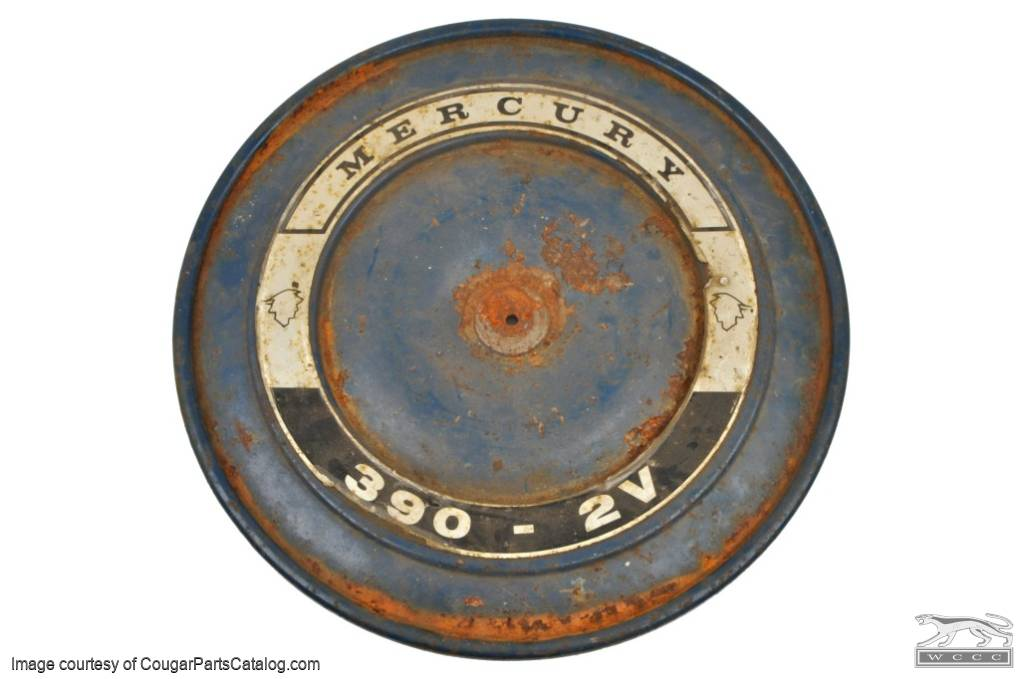 Air Cleaner Decal - 390 2V - Repro ~ 1968 Mercury Cougar - 12841