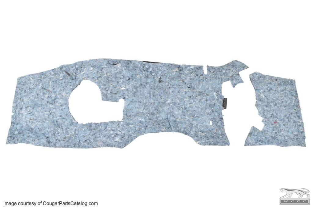 Firewall Insulation Pad - Non A/C - PREMIUM - Repro ~ 1967 - 1968 Mercury Cougar / 1967 - 1968 Ford Mustang - 12863