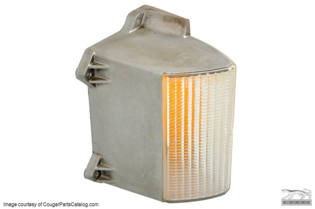 Lens - Turn Signal / Parking Light - Front - Driver Side - Grade A - Used  ~ 1973 Mercury Cougar - 13092