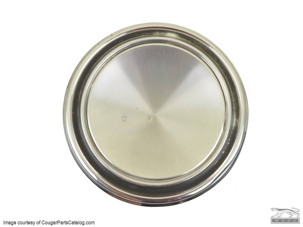 Hubcap / Wheel Cover - Dog Dish Style - Eliminator - Grade B - Used ~ 1969 - 1973 Mercury Cougar / Cyclone 1968 - 1973 Ford / 1969 - 1973 Ford Mustang / Torino - 13689