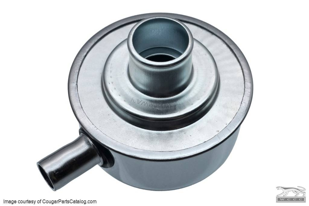 Oil Cap - Push On - CHROME - Closed Emissions - NEW ~ 1967 - 1973 Mercury Cougar / 1967 - 1973 Ford Mustang - 13862